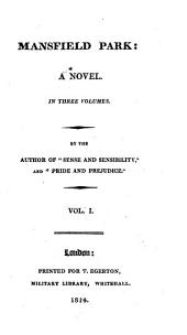 Mansfield park, by the author of 'Sense and sensibility', 3 vols