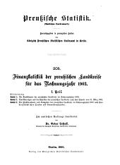 Finanzstatistik der preussischen Landkreise für das Rechnungsjahr 1903