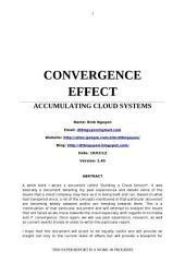 CONVERGENCE EFFECT: ACCUMULATING CLOUD SYSTEMS