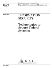 Information security technologies to secure federal systems.