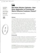 Red alder kitchen cabinets: how does application of commercial stains influence customer choice?