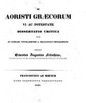 De aoristi Graecorum vi ac potestate: Dissertatio critica