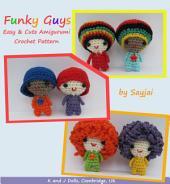 Funky Guys Amigurumi Crochet Pattern