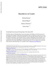 Incentives to Learn: Issue 10971