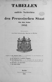 Tabellen und amtliche nachrichten über den Preussischen staat für das jahr 1852