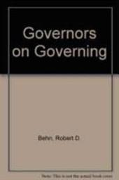 Governors on Governing