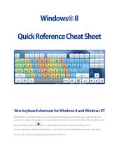 Windows ® 8 Quick Reference Cheat Sheet