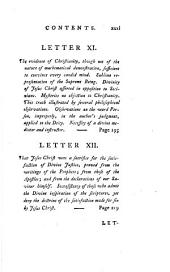 Letters from baron Haller to his daughter on the truths of the Christian religion. Transl