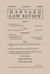 Harvard Law Review: Volume 129, Number 5 - March 2016