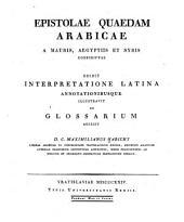 Epistolae quaedam arabicae