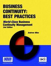 Business Continuity: World Class Business Continuity Management