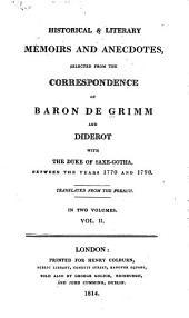 Historical & Literary Memoirs and Anecdotes