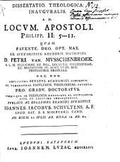 Dissertatio theologica inauguralis ad locum apostoli Philipp. II: 5-11