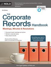 The Corporate Records Handbook: Meetings, Minutes & Resolutions, Edition 6