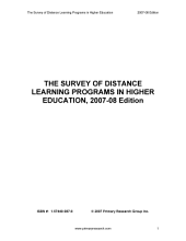 The Survey of Distance Learning Programs in Higher Education