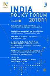 India Policy Forum 2010-11: Volume 7