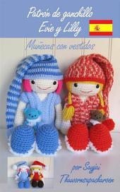Patrón de ganchillo Evie y Lilly, Muñecas con vestidos