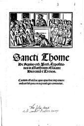 Expositiones in Mattheum: Esaiam