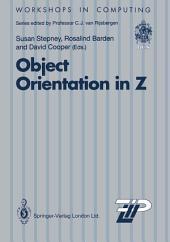 Object Orientation in Z