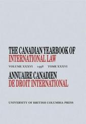 The Canadian Yearbook of International Law: Volume 36; Volume 1998