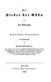 Die Lieder der Edda von den Nibelungen