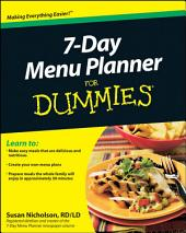 7-Day Menu Planner For Dummies