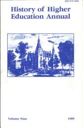 History of Higher Education Annual: 1989
