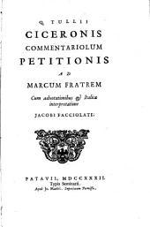 Commentariolum Petitiones ad Marcum fratrem