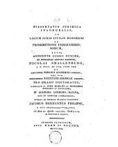 Dissertatio juridica inauguralis ad locum juris civilis hodierni de prohibitione fidei commissorum