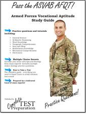 Pass the ASVAB AFQT! Armed Services Vocational Aptitude Battery Study Guide and Practice Questions