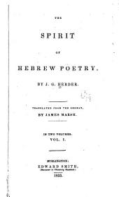 The Spirit of Hebrew Poetry: Volume 1