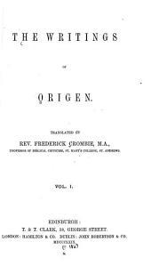 The Writings of Origen: Volume 10