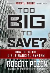 Too Big to Save How to Fix the U.S. Financial System