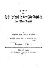 Ideen zur Philosophie der Geschichte der Menschheit. - Riga (usw.), Hartknoch 1784-1791