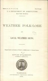 Weather Folk-lore and Local Weather Signs ...