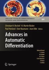 Advances in Automatic Differentiation