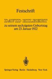 Festschrift: zu seinem sechzigsten Geburtstag am 23.Januar 1922
