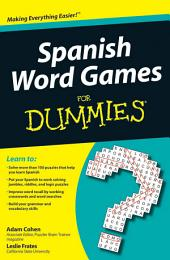Spanish Word Games For Dummies
