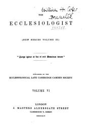The Ecclesiologist: Volume 3