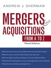 Mergers and Acquisitions from A to Z: Edition 3