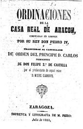 Ordinaciones de la Casa Real de Aragon