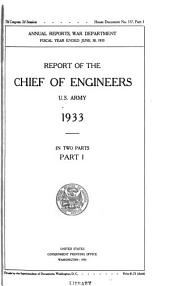 Annual Report of the Chief of Engineers, United States Army