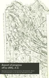 Report of Progress 1874-1889, A-Z.