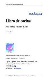 Libro de cocina: Dieta con bajo contenido en yodo