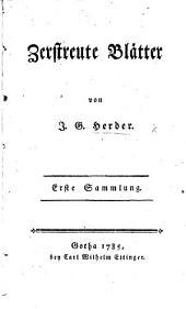 Zerstreute Blätter. 1. & 2. Sammlung