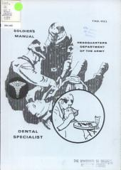 Soldier's Manual: Dental Specialist