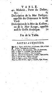 Voyage fait par ordre du roy Louis XIV dans la Palestine vers le Grand Emir, chef des princes arabes du désert, connus sous le nom de Bedouïns ... où il est traité des moeurs & des coutumes de cette nation: Avec La description générale de l'Arabie