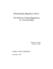 Disentangling regulatory policy : the effects of state regulations on trucking rates