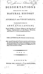 Dissertations Relative to the Natural History of Animals and Vegetables