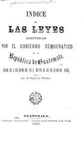 Recopilación de las leyes de la República de Guatemala: Volúmenes 1-2